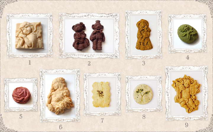 9種のクッキー