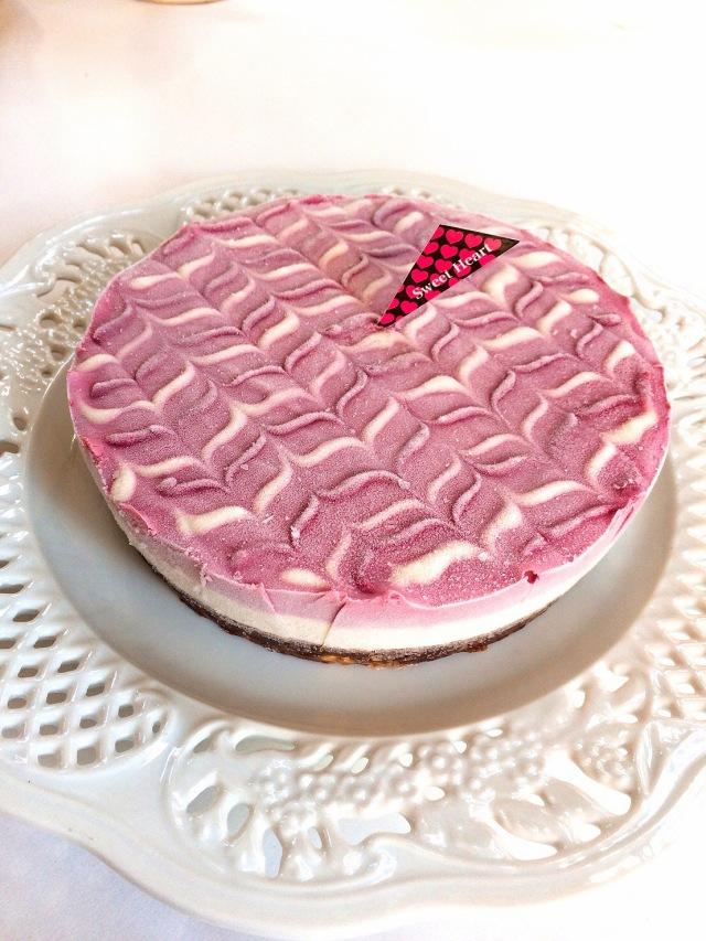 フランボワーズ&レモンチーズケーキ<ロースイーツ> 18cmホール